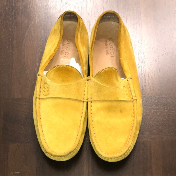 Gucci Shoes | Gucci Mens Yellow Loafers